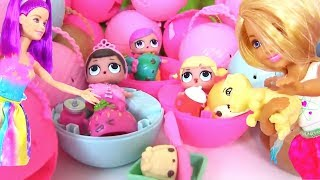 Куклы Лол Сюрприз Мультик! Челси собирает коллекцию Lol Surprise для Старших Барби