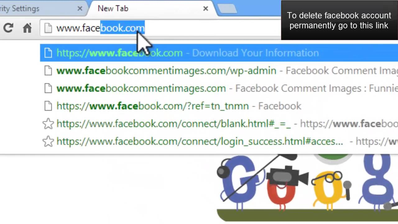 How To Facebook Account Delete Easy Youtube