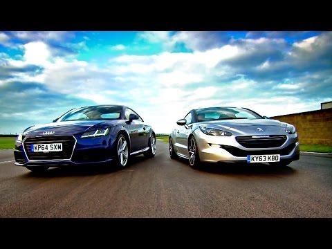 Audi TT vs Peugeot RCZ - Fifth Gear