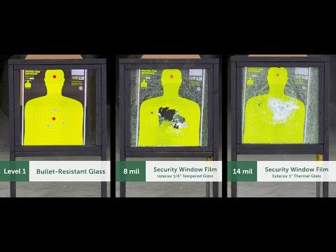 Bullet Resistant Glass Or Security Window Film | People Or Products