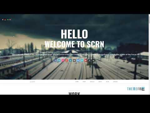 SCRN - Responsive Parallax Joomla Template        Tom Deacon