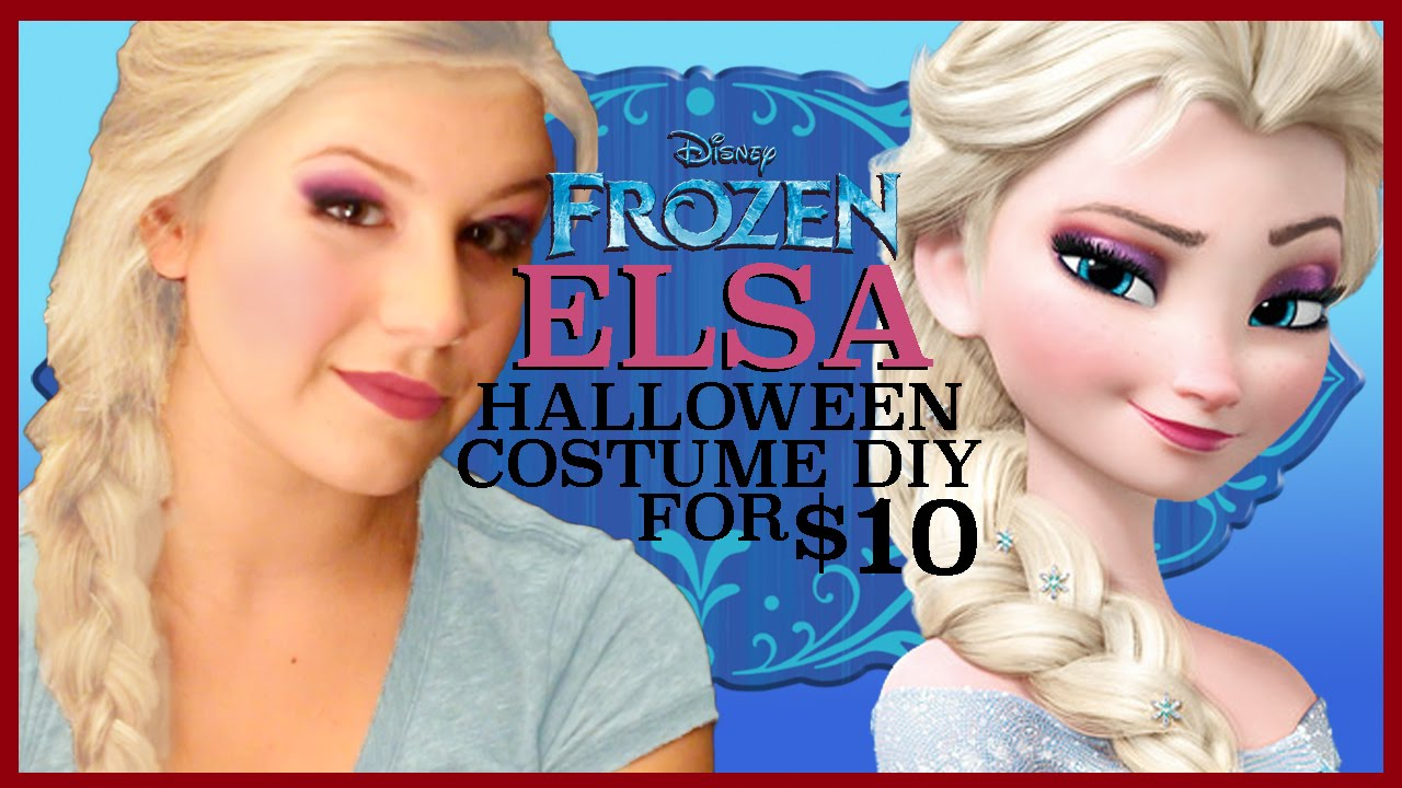 sc 1 st  YouTube & ELSA HALLOWEEN COSTUME DIY (for $10) - YouTube