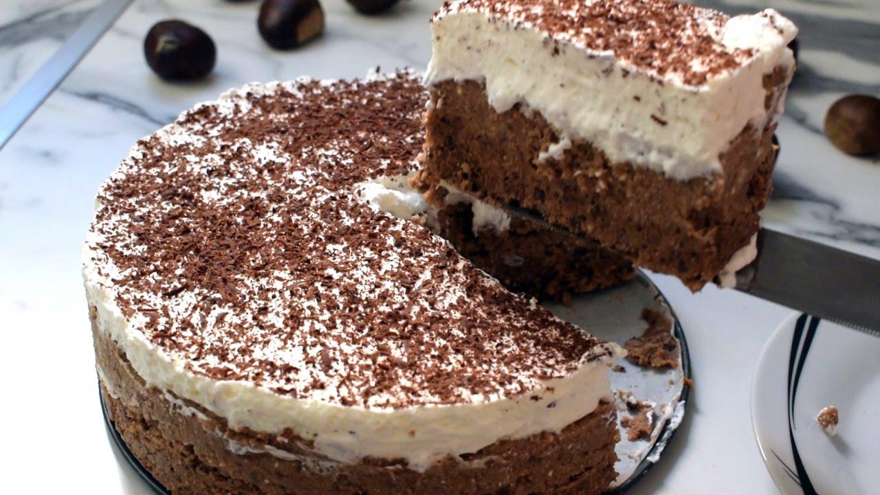 No Bake Chestnut Cake Youtube