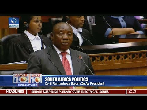 Cyril Ramaphosa Sworn In As South Africa's President Pt 1 | News@10 |