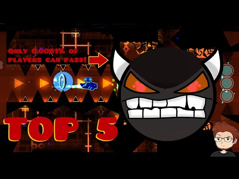 [2020] TOP 5 *HARDEST* EXTREME DEMONS | Geometry Dash 2.11