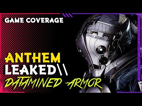 Anthem New Armor Pieces Datamined \\All 4 Javelins