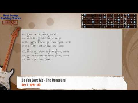 Do You Love Me - The Contours Guitar Backing Track with chords and lyrics