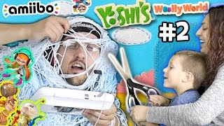 The Yarn Zombie plays YOSHI'S WOOLY WORLD #2:  Chase + Scissors = SCARY!  (Amiibo Action!)