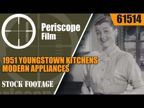 1951 YOUNGSTOWN KITCHENS  MODERN APPLIANCES & MULLINS DISHWASHER PROMOTIONAL FILM  61514
