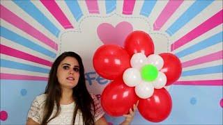 Flor Grande de Balão para Decoração de Festa Infantil
