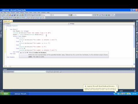 Select..Case Statement Example- (part-9)Vb.net Tutorial In Tamil