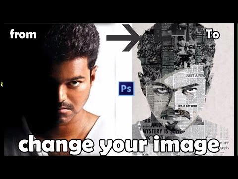make photoshop effect like kathi movie poster