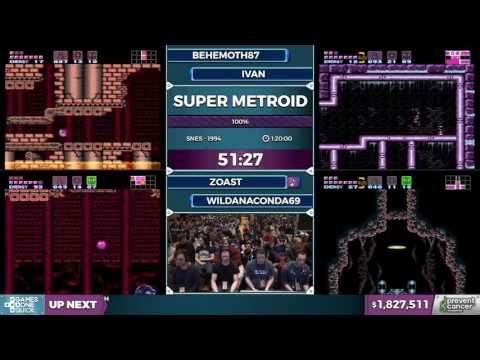 Guy tells audience to kill themselves live at AGDQ 2017, Super Metroid