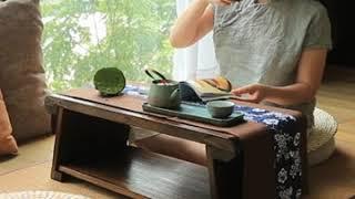 일본식 좌식 원목 접이식 티 테이블 낮은 미니 좌탁