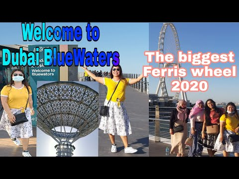 Dubai BlueWaters Island/The biggest Ferris wheel in the world 2020/Celebration of the Halloween.