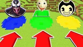 Minecraft : DO NOT CHOOSE THE WRONG POND! (BALDI,VENOM,BENDY)(Ps3/Xbox360/PS4/XboxOne/PE/MCPE)