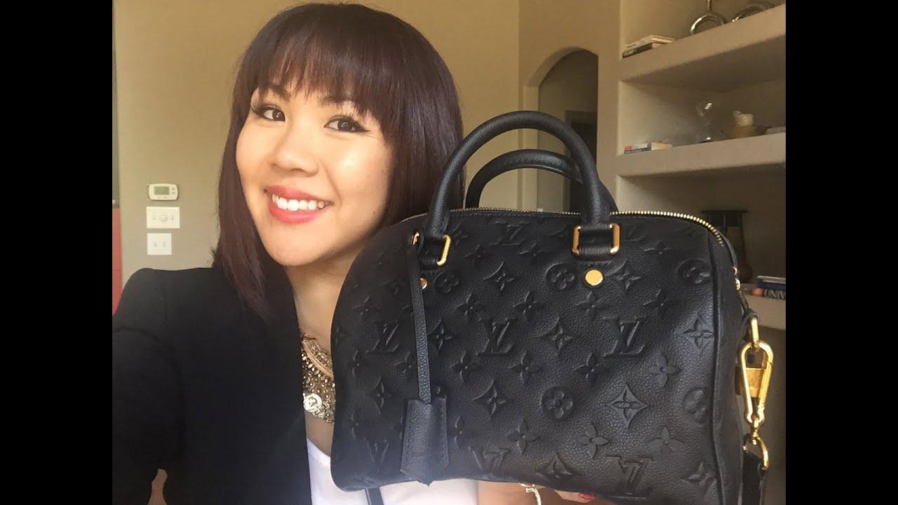 Louis Vuitton Empreinte Speedy B 25 Review Youtube