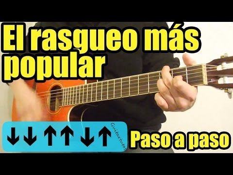 Como tocar ritmo/rasgueo pop, balada rock/balada rítmica en guitarra (Fácil, sin cejilla)