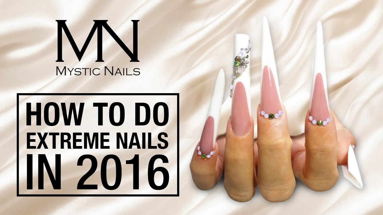 Mystic Nails - How to do Extreme Russian Almond gel nails with ...