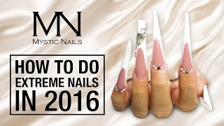Mystic Nails - How to do Extreme Russian Almond gel nails with Classic Line - Deluxe Gels