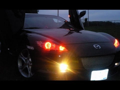mazda rx8 with red halo headlight 2013 youtube