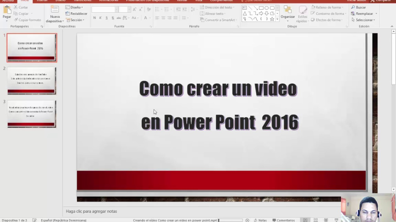 Como Crear Un Video En Power Point 2016 Youtube