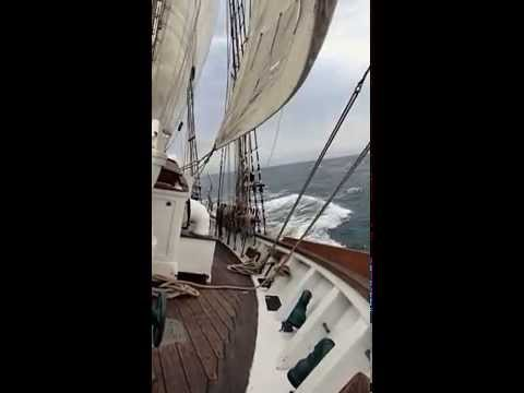 SV Irving Johnson sailing on a windy day (2)