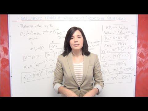 Equilibrio Químico: Solubilidad y Producto de solubilidad
