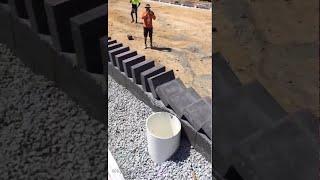 Dominoes with Bricks (Additional Angle)    ViralHog