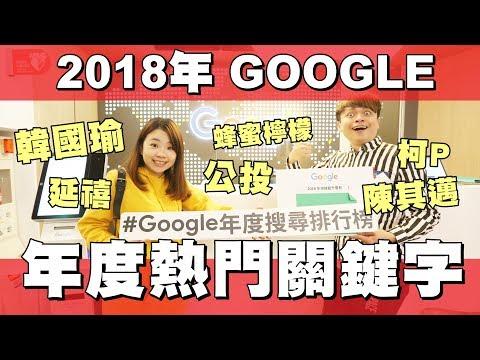 2018年台灣GOOGLE十大熱門關鍵字!蔡阿嘎突擊GOOGLE總部!