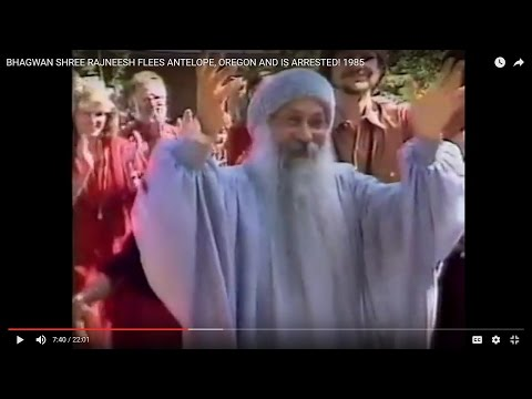 BHAGWAN  SHREE RAJNEESH FLEES ANTELOPE, OREGON AND IS ARRESTED! 1985 (89)