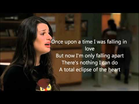 Glee - A Total Eclipse Of The Heart Lyrics