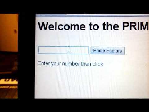 HTML/ Javascript Program To Calculate Prime Factors.