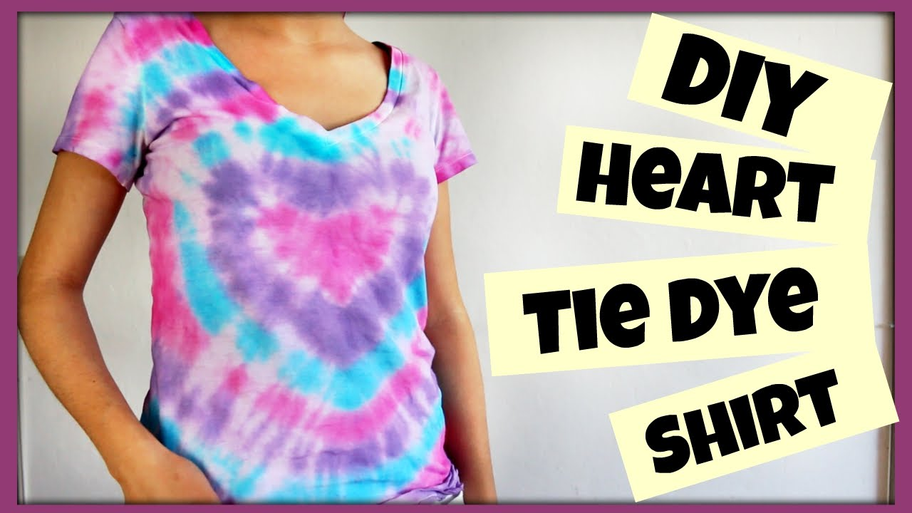 Diy heart tie dye shirt ft nia 39 s nest youtube for Making a tie dye shirt