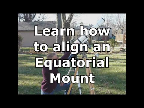 How To Align An Equatorial Mount Youtube