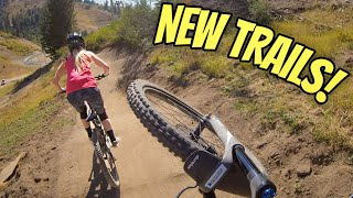 Exploring $300k Of New Trails At Bogus Basin Resort! Fast, Flowy, & Some Big Jumps!