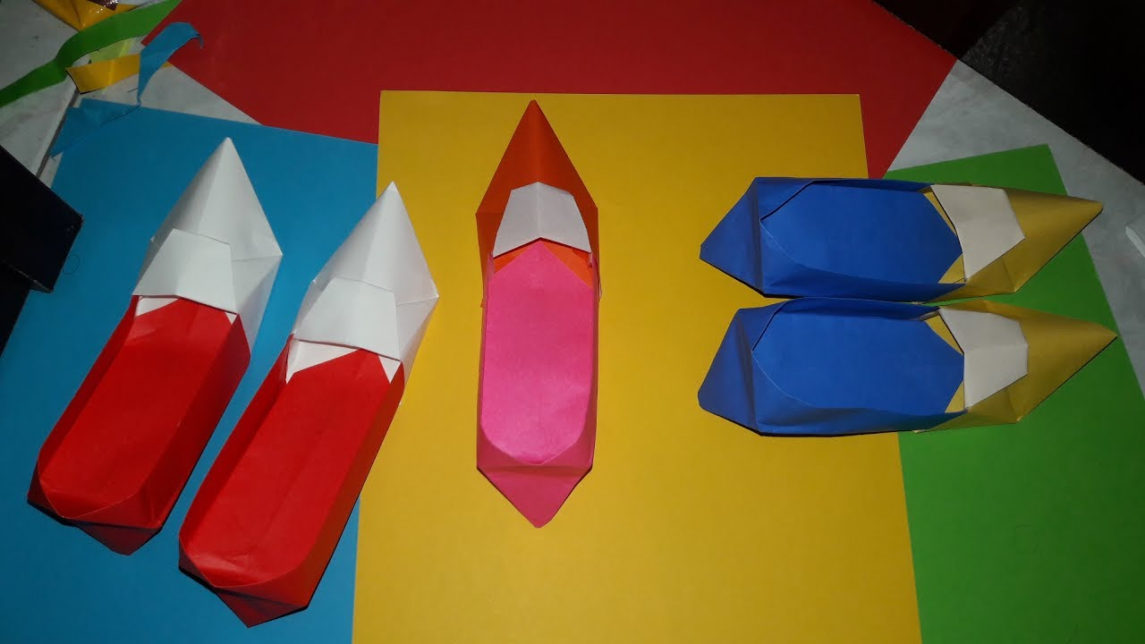 paper craft how to make high heel shoes for female with color