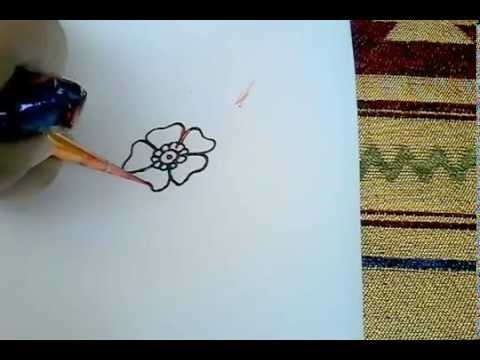 Cara Menggambar Simple Henna Youtube