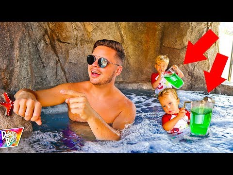 DOUBLE SLIME PRANK IN DAD'S HOT TUB!