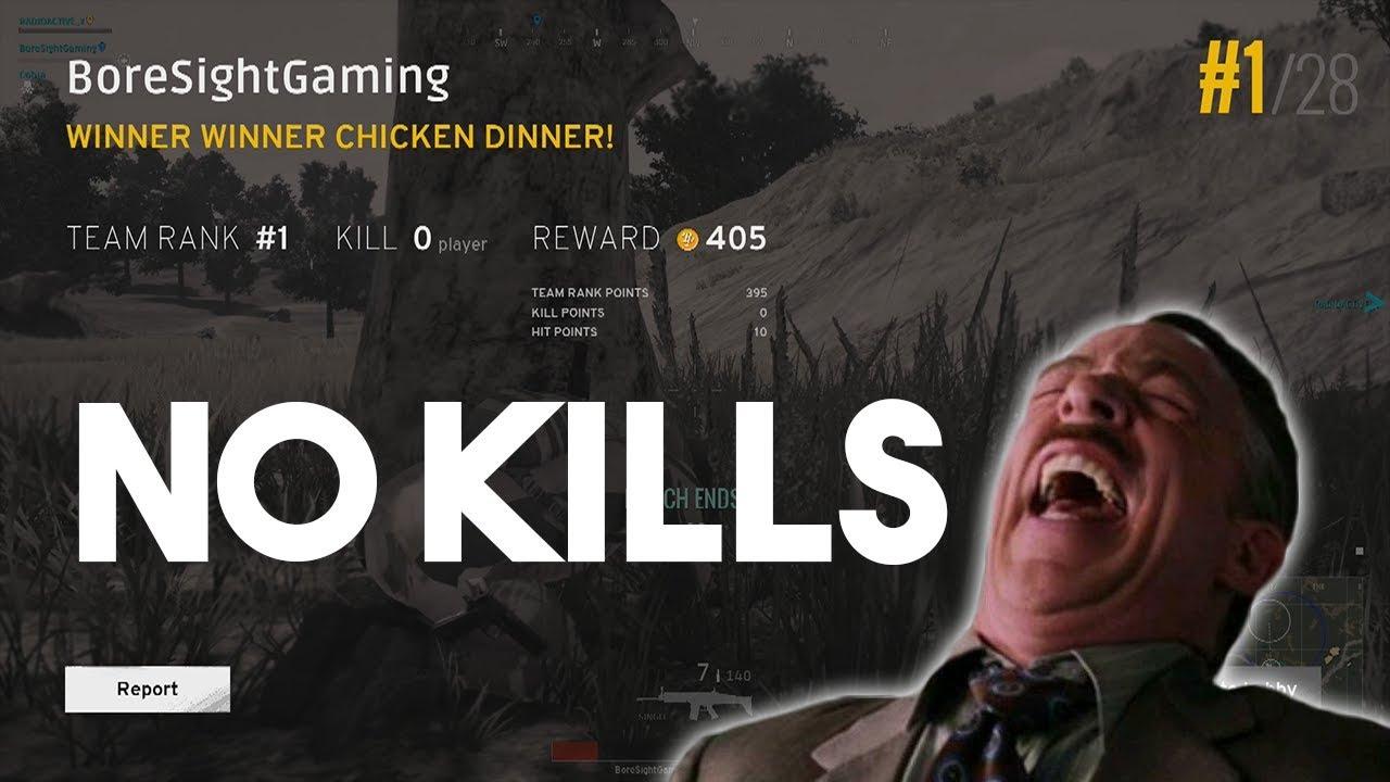winner winner chicken dinner 0 kill win pubg youtube