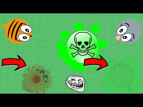 Mope.io  POISONOUS WATER TROLL PART 2!! Weird Pufferfish Kill! Mope.io Trolling