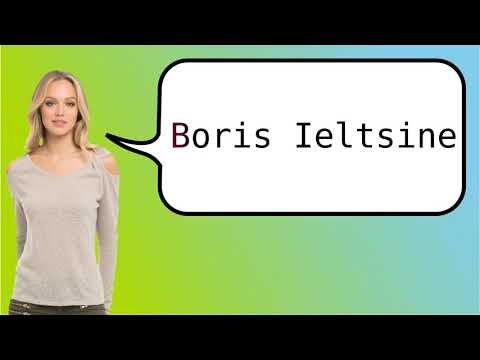 How to say 'Boris Yeltsin' in French?