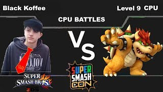 4 Smash3DS Black Koffee(Donkey Kong) vs Level 9 CPU(Bowser)