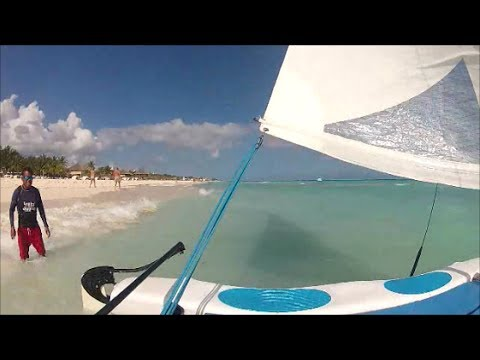 Sailing a Hobie Cat on the Caribbean