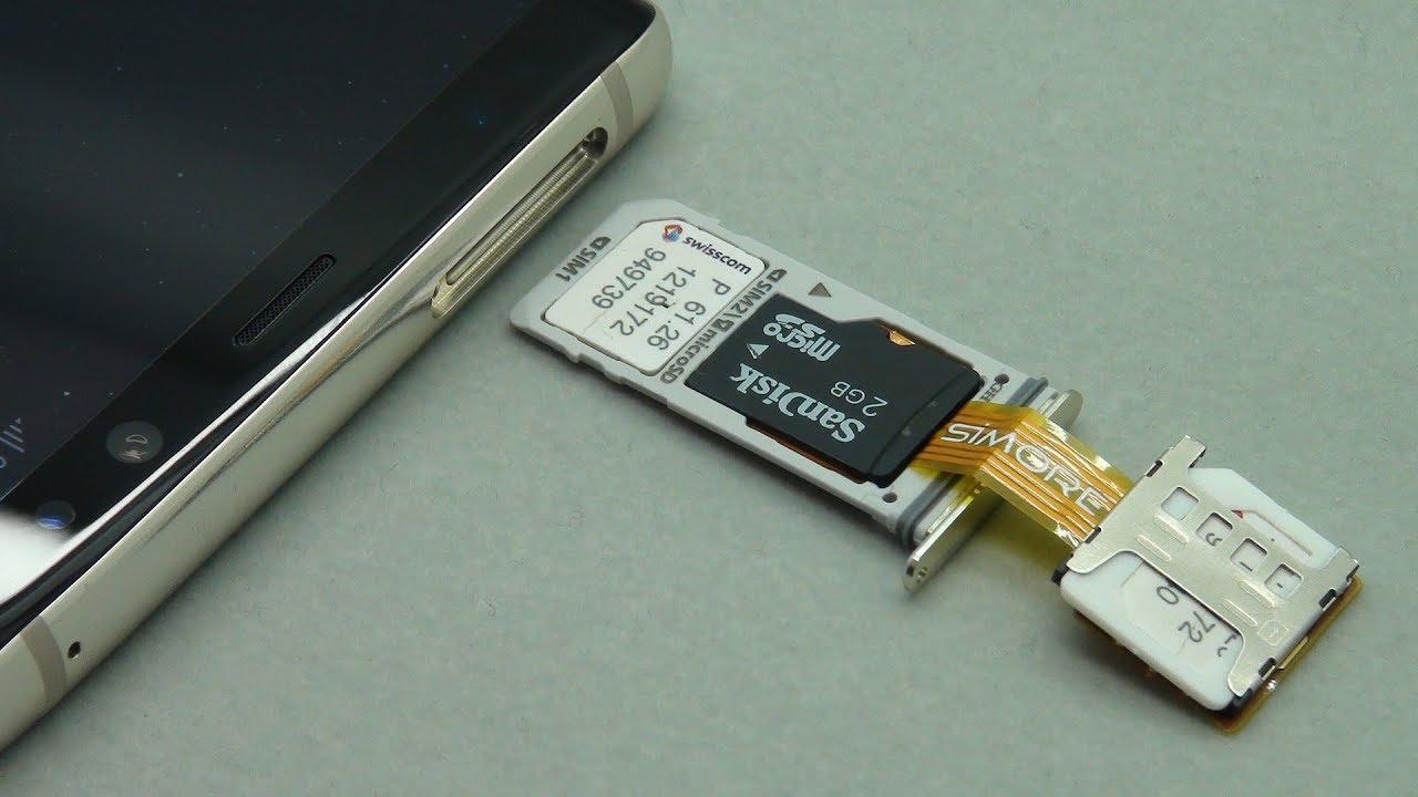 Galaxy Note8 Dual SIM & SD Card work simultaneously on Samsung Galaxy Note8  Duos Hybrid DualSIM Slot