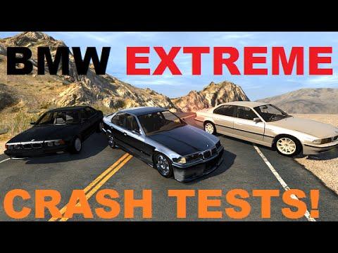 BMW Extreme Crash Testing M3, 5 Series, 7 Series - BeamNG Drive