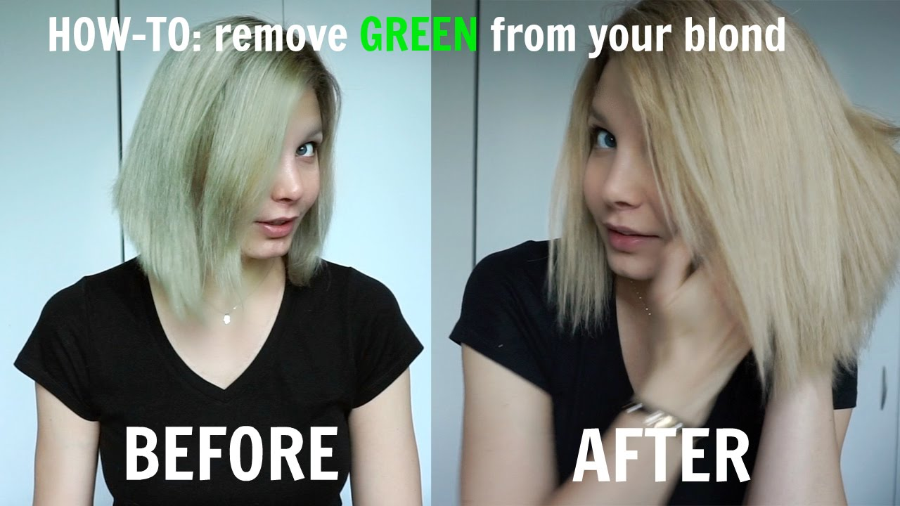 HOW TO Remove GREEN Shade From Your Blonde YouTube