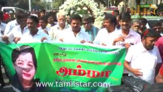 Tamil Film Industry pays tribute to Late TN CM Jayalalithaa
