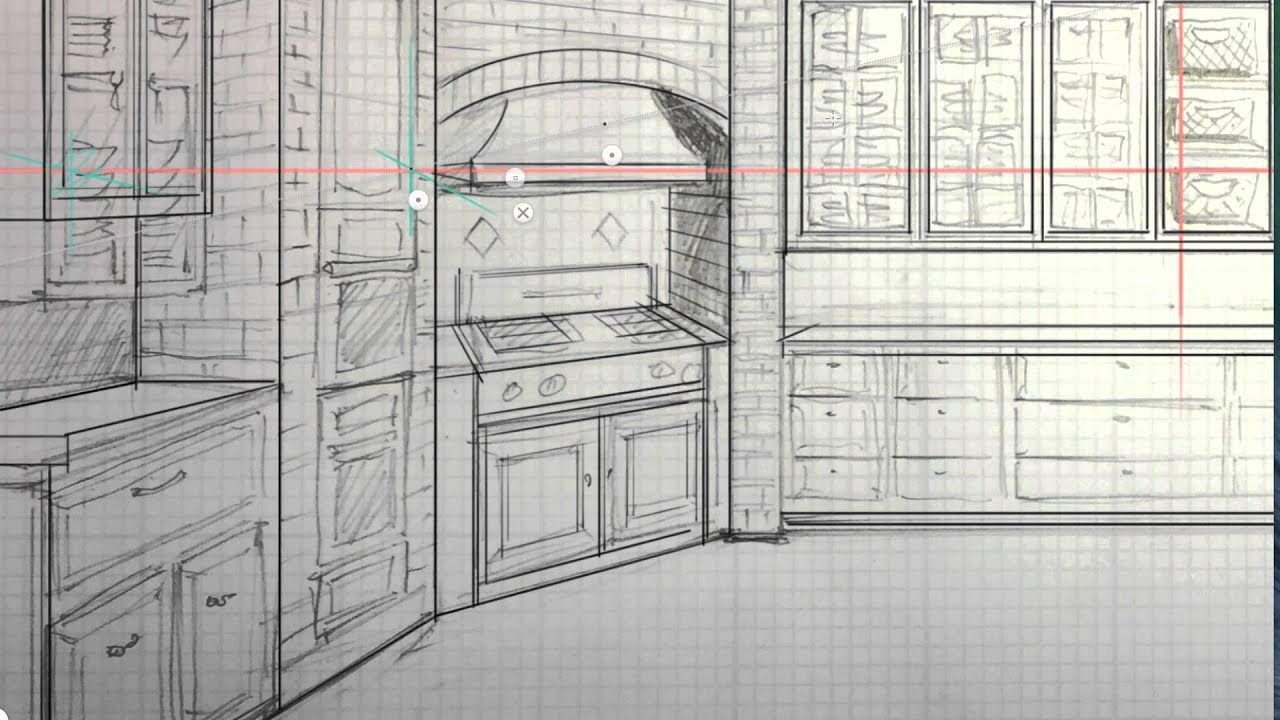 Interior design sketch with autodesk sketchbook pro 6 Interior design for beginners