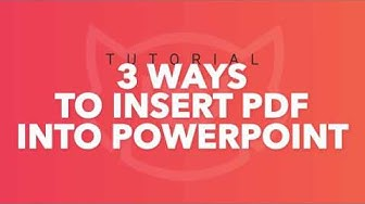 How to Insert PDF into PowerPoint: 3 Easy Ways (Windows and Mac). PowerPoint 2019. TemplateMonster